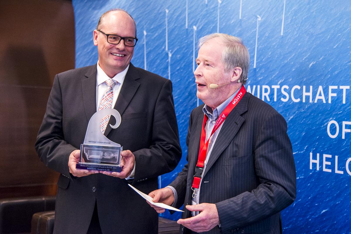 "Verleihung ""Bestes Offshore Windkraftwerk 2014"""